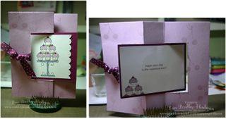 Cupcake flip card