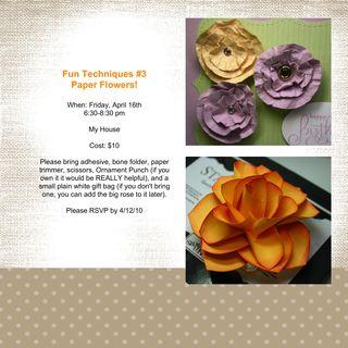 Paper Flowers Techniques 3-001