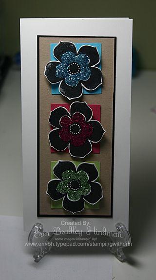 Triple glitter flowers