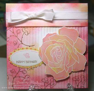Rose envelope birthday